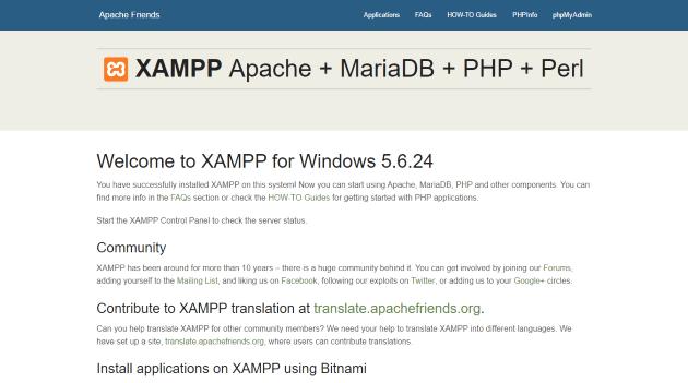 XAMPP Start Page