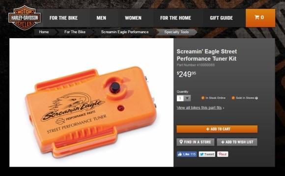 Screamin' Eagle Street Performance Tuner Kit
