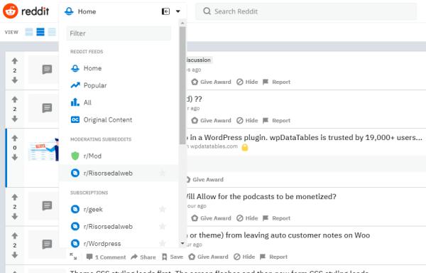 reddit cerca gli argomenti di tuo interesse