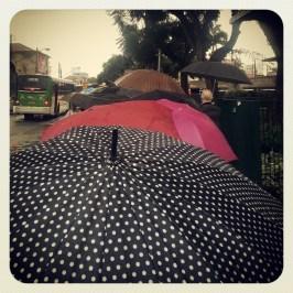Um dia que começou com chuva