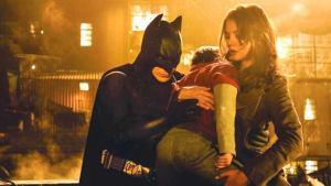 'BATMAN BEGINS' (2005). Liam Neeson and Christian Bale star in this DC Comics origin story of Bruce Wayne. Text © Rissi JC