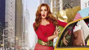 'CONFESSIONS OF A SHOPAHOLIC' (2009). Isla Fisher plays Becky Bloomwood, Sophie Kinsella's lovable but financially irresponsible heroine. Text © Rissi JC