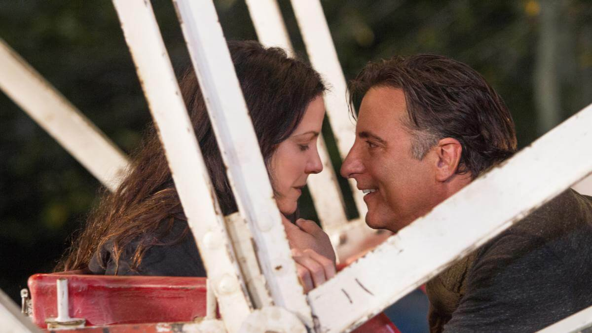 CHRISTMAS IN CONWAY (2013). Review of the Andy Garcia and Mary Louise Parker Hallmark Hall of Fame film. Text © Rissi JC / RissiWrites.com