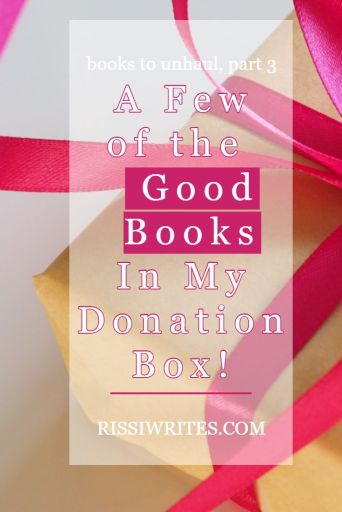 """A Few of the Good Books In My Donation Box! New on Booktube! Going through a box of donation books in my newest """"booktube talk."""""""