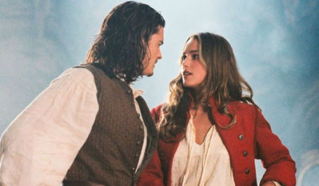 Orlando Bloom and Kiera Knightley co-star in Pirates of the Caribbean, Curse of the Black Pearl. Photo: Disney