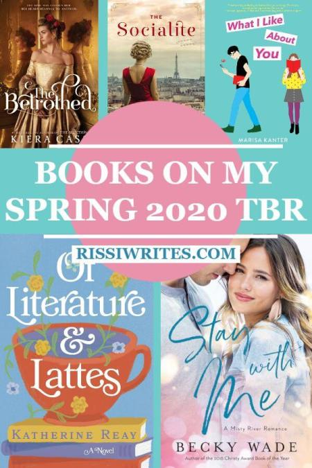 An Exciting New Spring 2020 To-Be-Read Reading List. Talking the spring 2020 TBR. What's on YOUR list? Text © Rissi JC