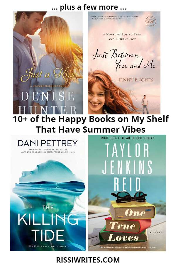 16 of the Happy Books on My Shelf That Have Summer Vibes. Sharing some 10+ (!!) happy books that put on all the summer vibes! Text © Rissi JC