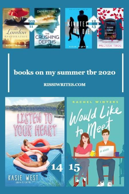 The Summer 2020 To-Be-Read Books I Hope to Enjoy. Sharing my picks for the usual summer 2020 TBR list! What made your list? Text © Rissi JC