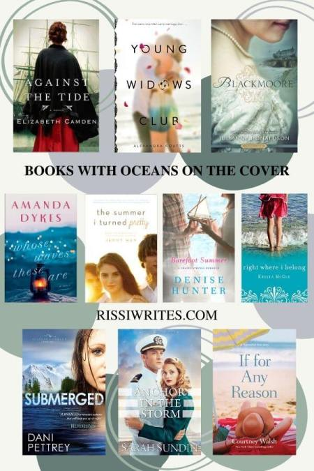 12 PRETTY BOOKS WITH OCEANS ON THE COVER FROM MY SHELF. Chatting a few pretty ocean-y book covers. Text © Rissi JC