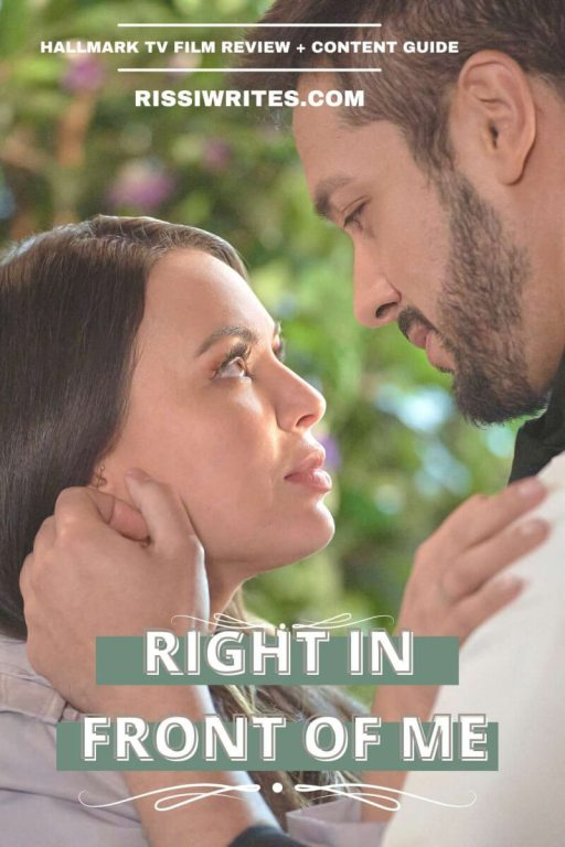 'RIGHT IN FRONT OF ME': A FUN MEET CUTE SETS THINGS IN MOTION. A wedding styler and chef meet during a weekend getaway and form a friendship. Text © Rissi JC