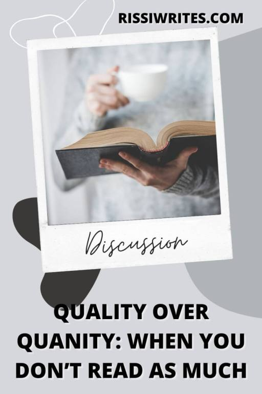 """QUALITY OVER QUANITY: WHEN YOU DON'T READ AS MUCH. Talking about my new height of """"turtle reading"""" & why I'm not reading as much. All text © Rissi JC"""