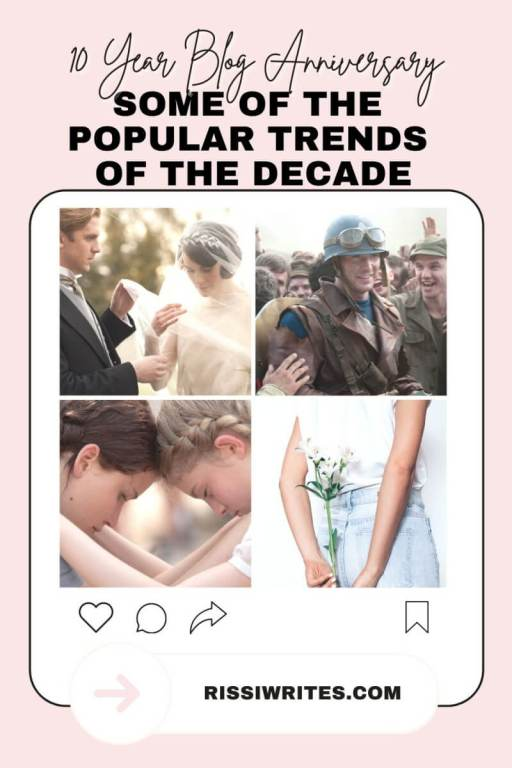 10 YEAR BLOGGING ANNIVERSARY: SOME OF THE POPULAR TRENDS OF THE DECADE. Chatting about a few pop culture trends of the last decade! Text © Rissi JC