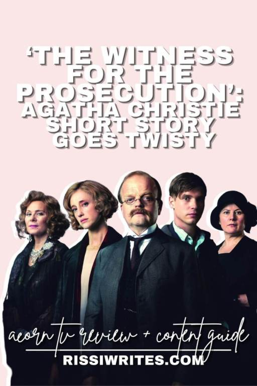 'THE WITNESS FOR THE PROSECUTION': AGATHA CHRISTIE SHORT STORY GOES TWISTY. Review of the 2016 adaptation with Toby Jones and Kim Cattrell. Text © Rissi JC