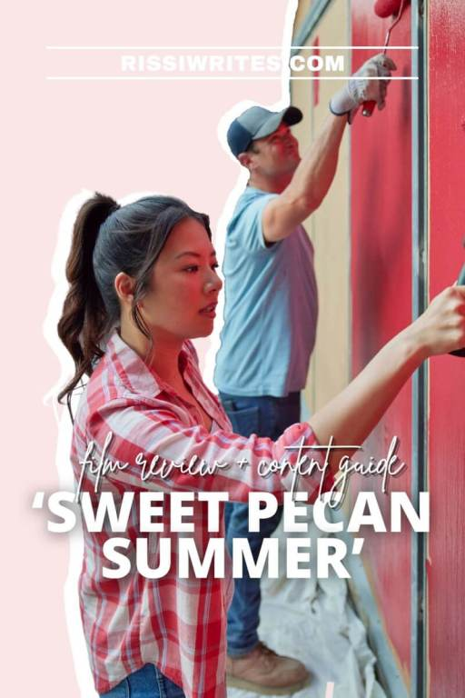'SWEET PECAN SUMMER' IS A LATE SUMMER TIME ROMANCE. Christine Ko and Wes Brown star in this 2021 rom-com. All text is © Rissi JC