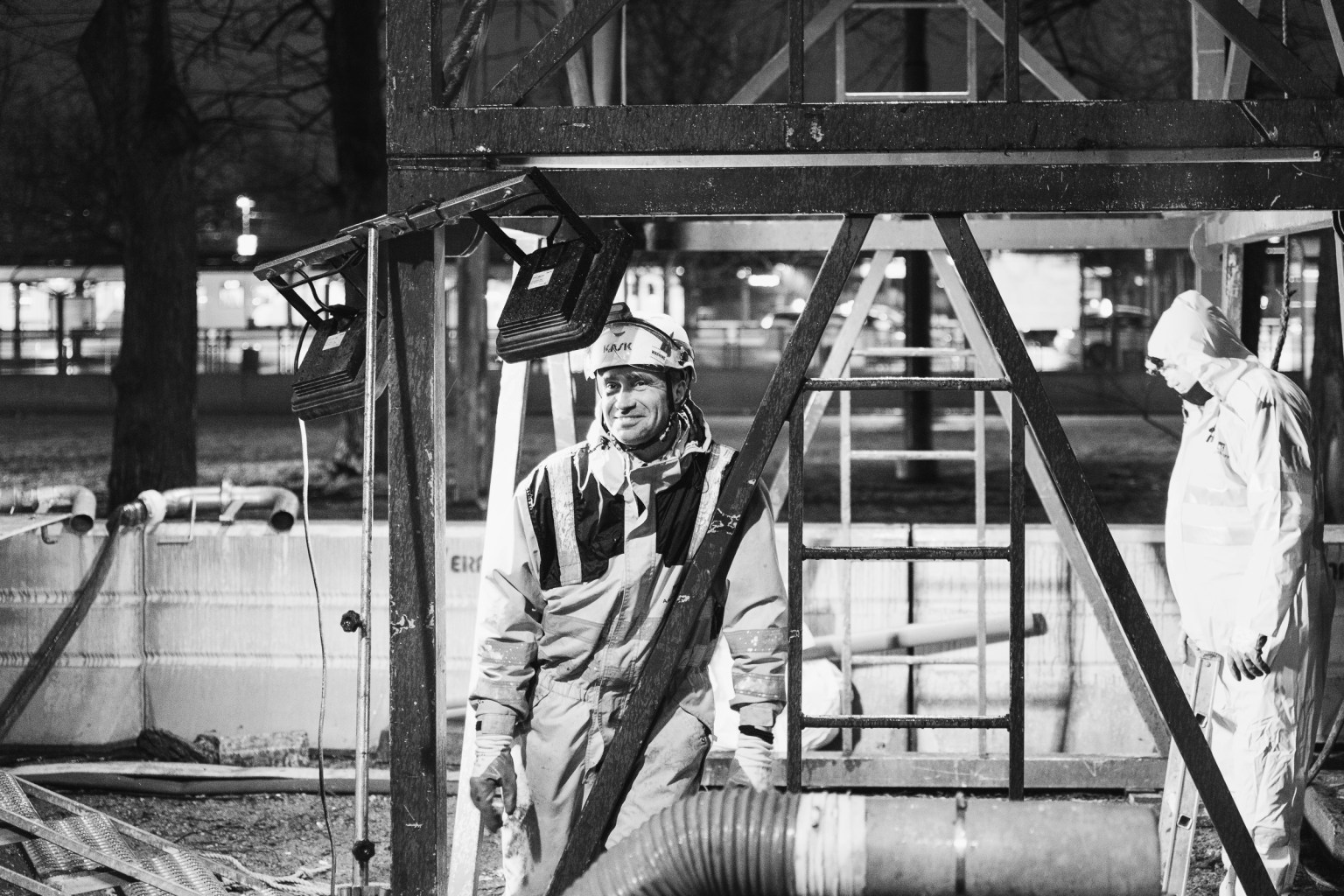 Arbetare, Aarsleff, dokumentationsbild, svartvit bild, Norrköping