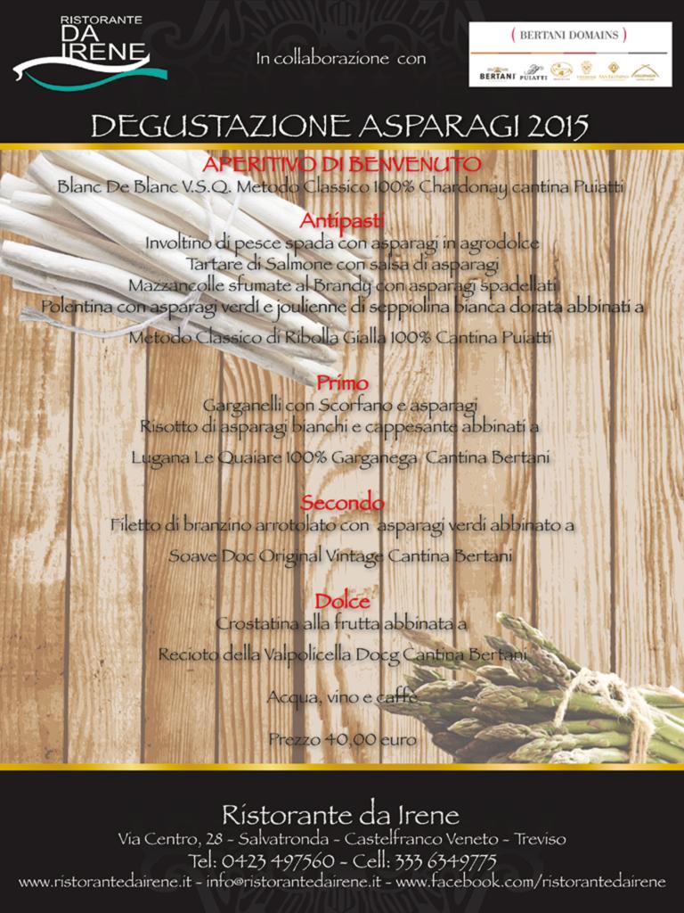 Menù Degustazione Asparagi 2015