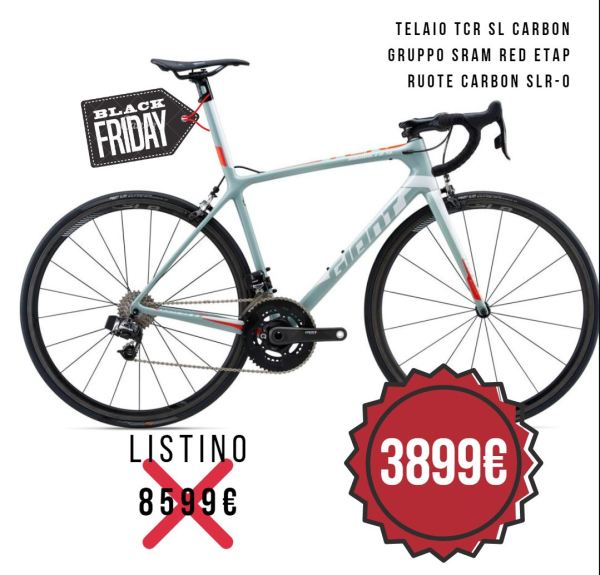 OFFERTA sconto GIANT TCR ADVANCED SL 0 red
