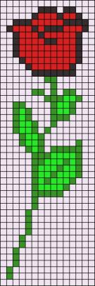 17.Как нарисовать розу по клеточкам