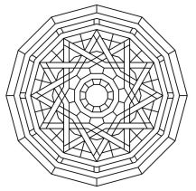 11.мандалы для раскрашивания распечатать