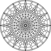06.мандалы для раскрашивания распечатать