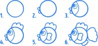 11.Поэтапное рисование для детей простые поэтапные рисунки