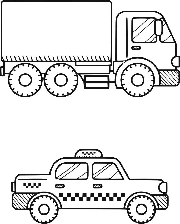 Раскраска машины для мальчиков распечатать