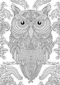 10.Раскраски антистресс совы