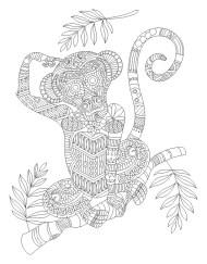 12.Раскраски антистресс животные