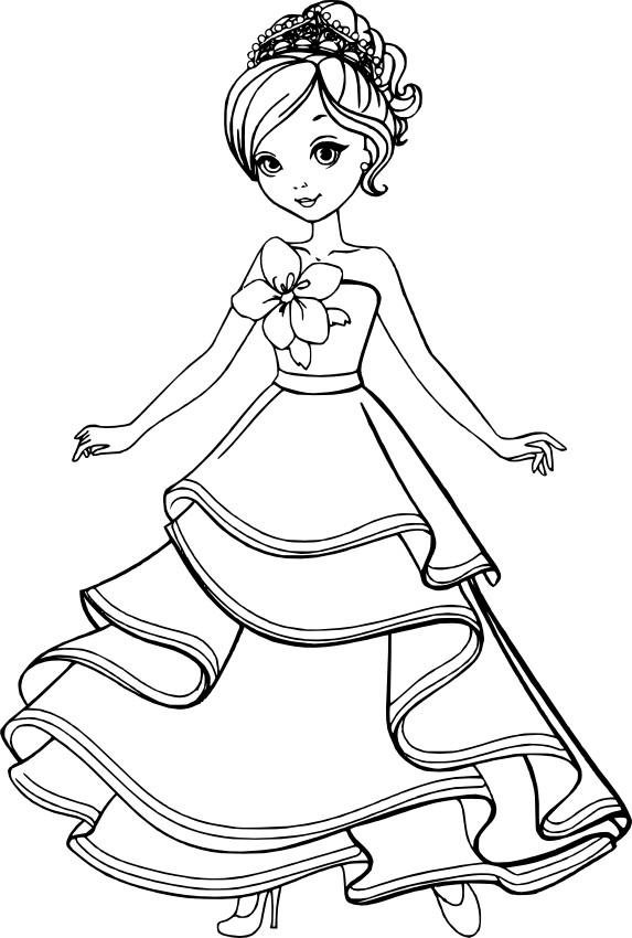 Раскраски для девочек распечатать бесплатно