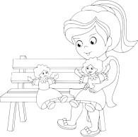 12.Раскраски для девочек распечатать бесплатно формат а4