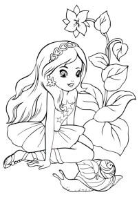 05.Раскраски для девочек распечатать бесплатно формат а4
