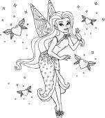 13.Раскраски для девочек распечатать бесплатно принцессы