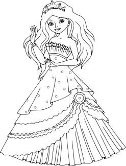 04.Раскраски для девочек распечатать бесплатно принцессы