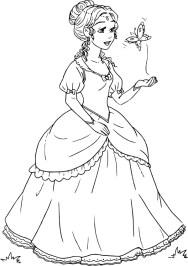 07.Раскраски для девочек распечатать бесплатно принцессы