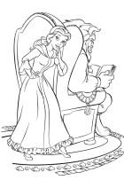 02.Раскраски для девочек распечатать бесплатно принцессы Диснея