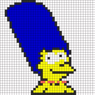 04.Рисунки по клеточкам Симпсоны