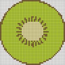 18.Рисунки по клеточкам фрукты