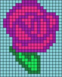13.Рисунки по клеточкам роза