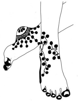 14.мехенди на ноге эскизы