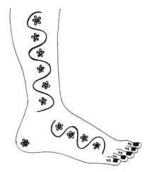 16.мехенди на ноге эскизы