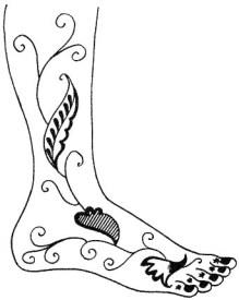 19.мехенди на ноге эскизы