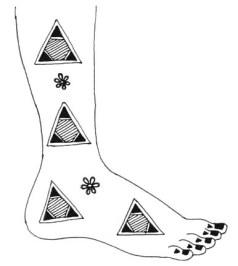 21.мехенди на ноге эскизы
