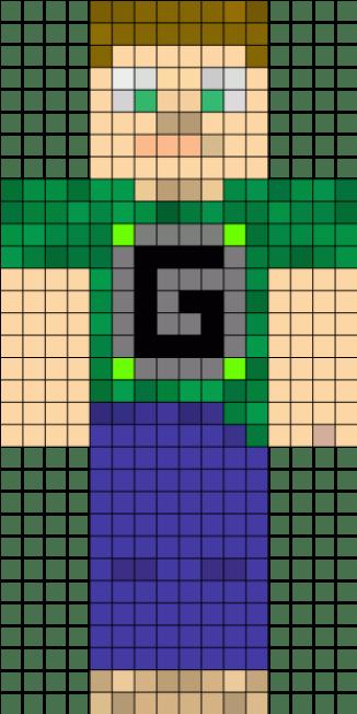 21.рисунки по клеточкам Майнкрафт