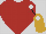 13.рисунки по клеточкам сердечки