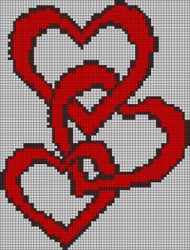 14.рисунки по клеточкам сердечки