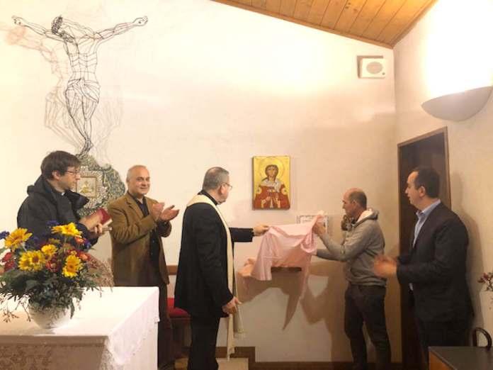 Lo scoprimento dell'icona in memoria di Costanzo Basaglia