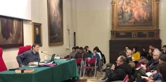 Don Maurizio Marcheselli mercoledì sera in Seminario