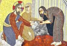 """Marko Rupnik, """"Il cieco nato"""", Santuario Giovanni Paolo II, Cracovia"""
