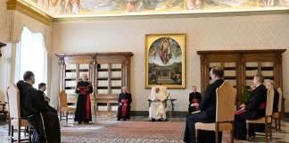 Un momento di una udienza del Papa