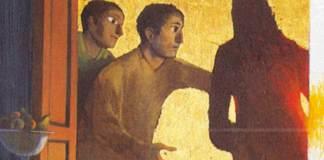 Arcabas, ciclo di Emmaus, L'accoglienza